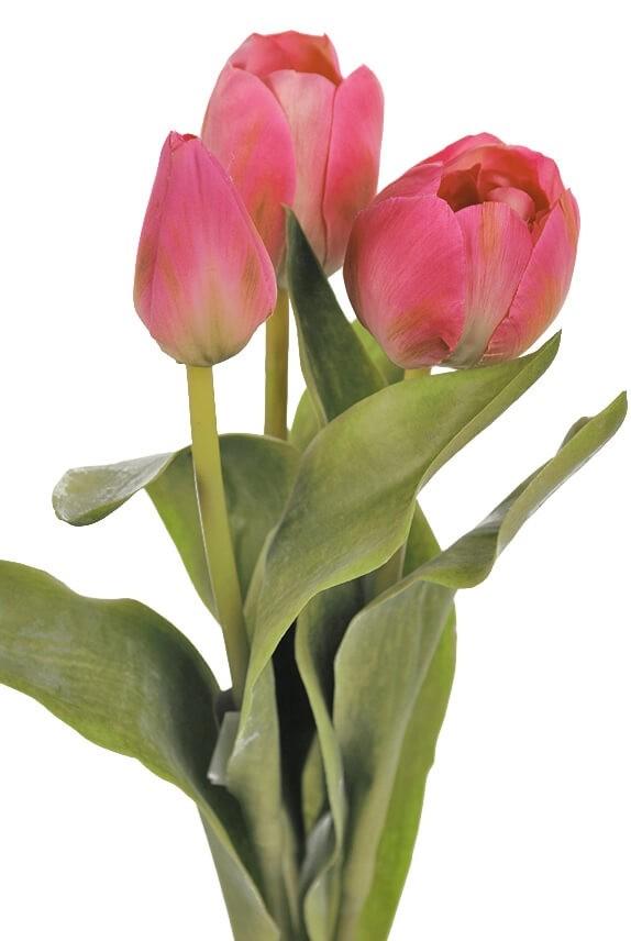 Tulpan 3-pack, cerise, konstgjord blomma