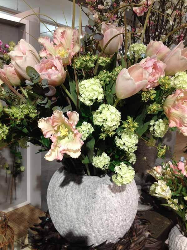 Tulpan, rosa, konstgjord blomma