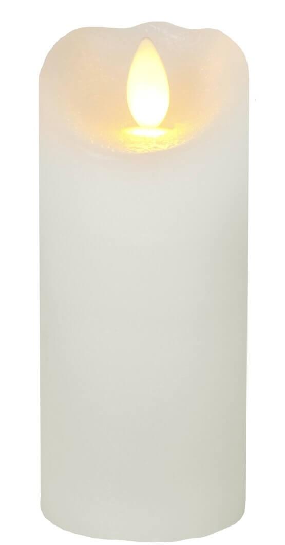 Vaxljus LED med timer, creme