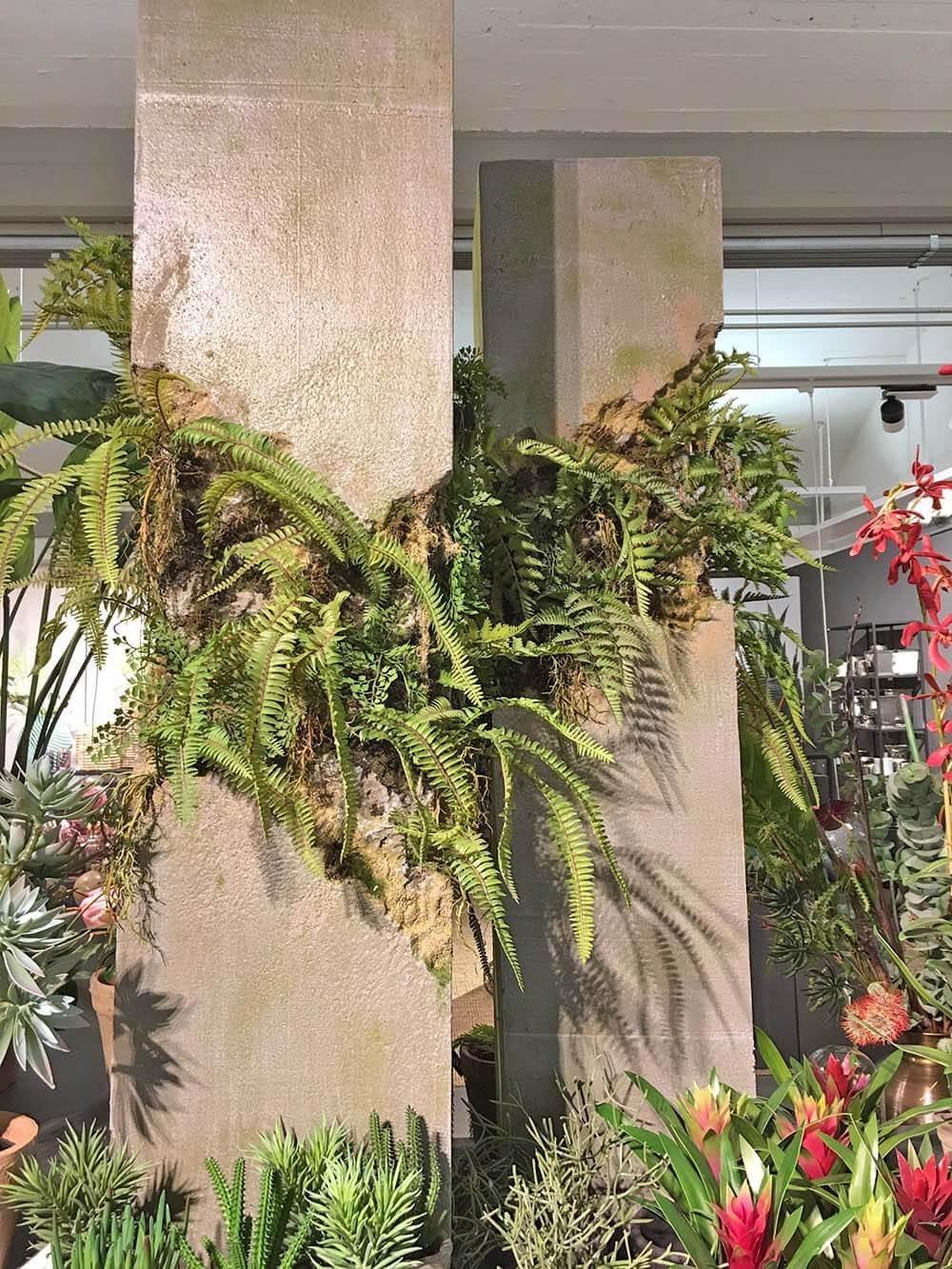 Växtdekoration, grå grön, konstgjord