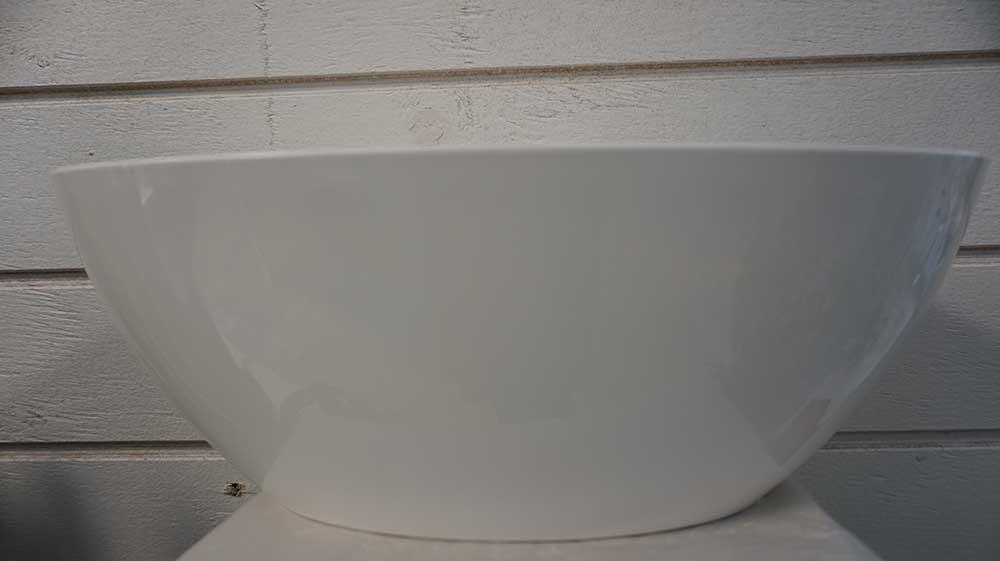 Oval plastkruka, vit