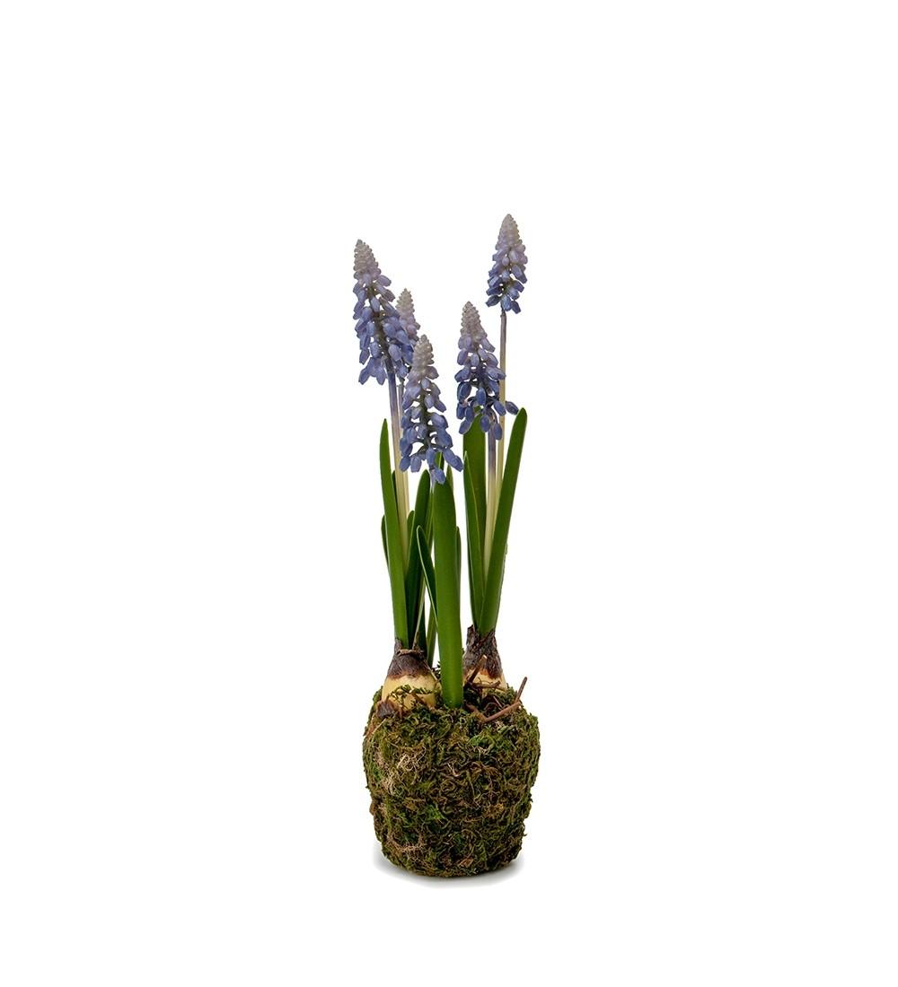 Pärlhyacint,blå, Muscari, konstgjord planta