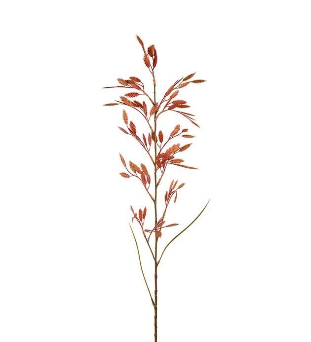Gräs, tegel/orange hängande ax, konstgjort