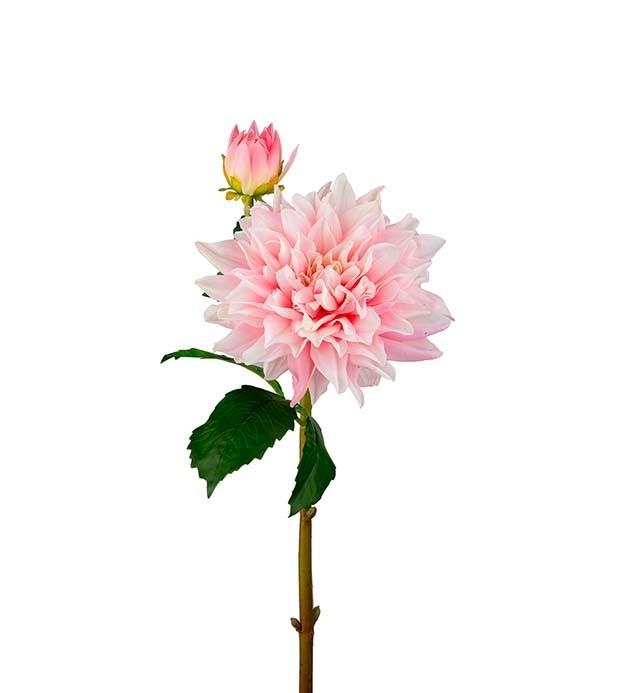 Dahlia, Real touch, ljusrosa, konstgjord blomma