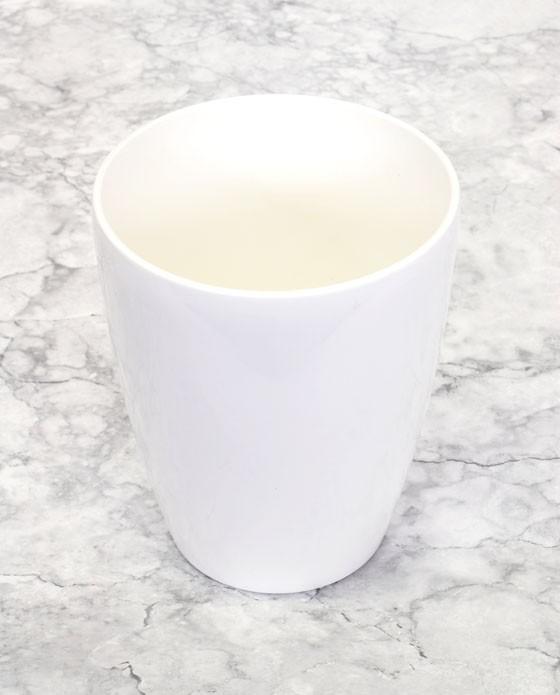 plastkruka, vit
