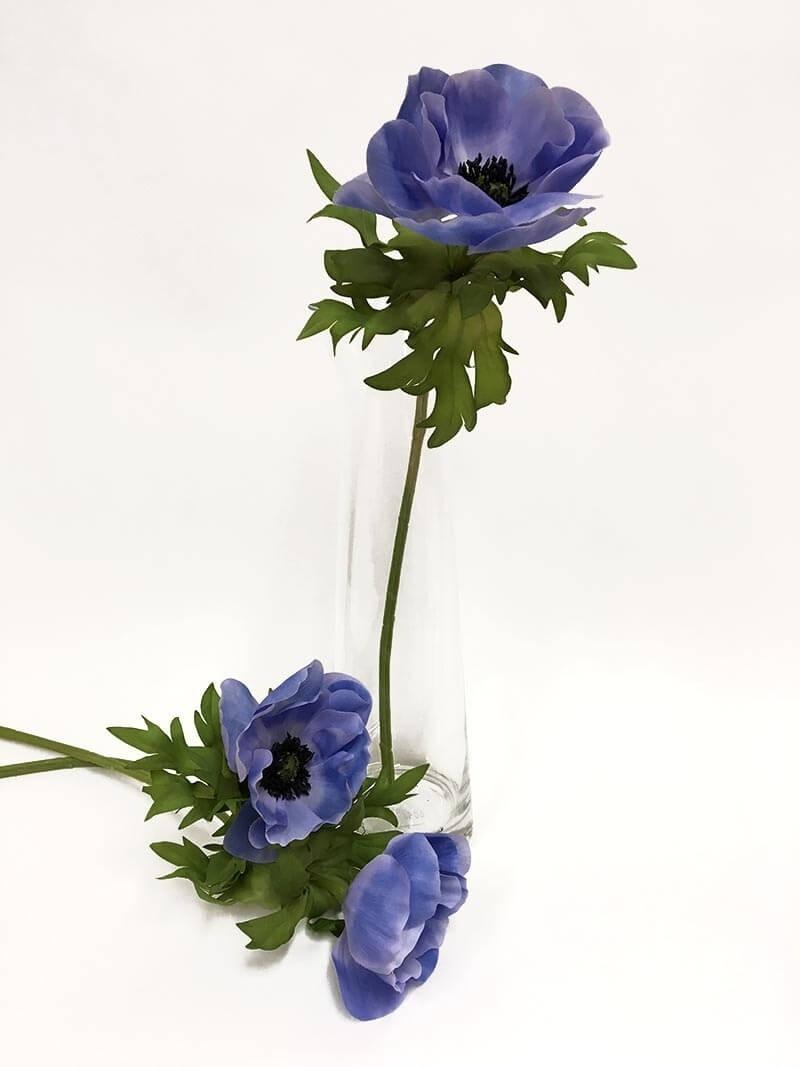 Anemon, himmelsblå, konstgjord blomma