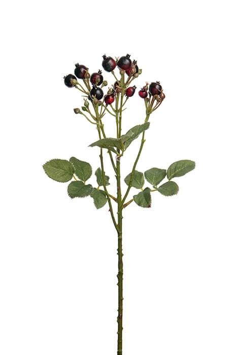 Bärkvist, vinröd, konstgjord kvist, blomma