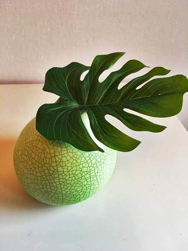Blad, monstera, konstgjord växt