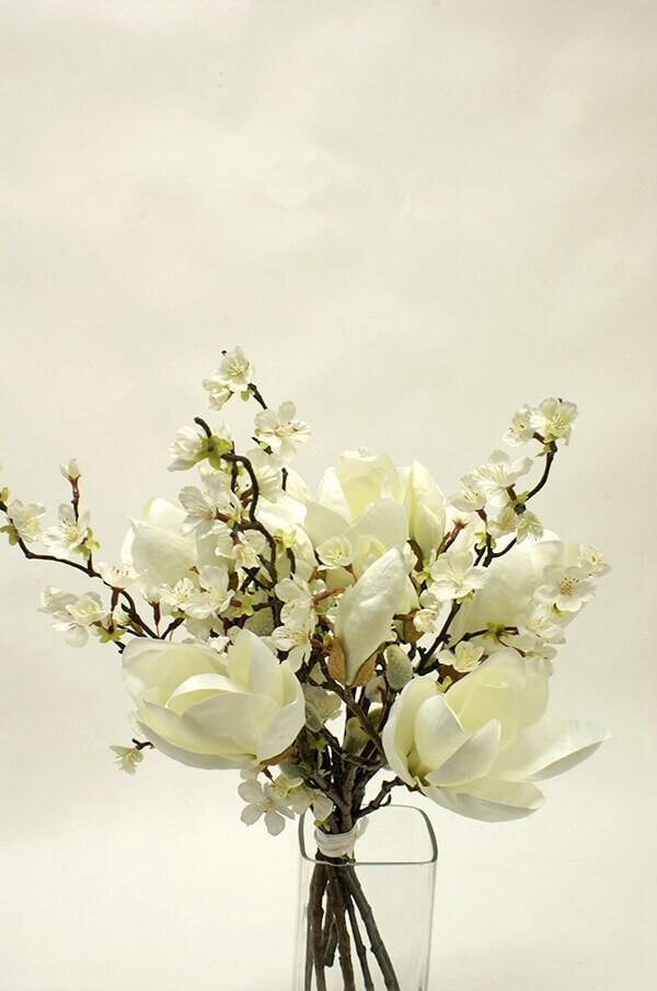 Bukett, Magnolia dream, konstgjord