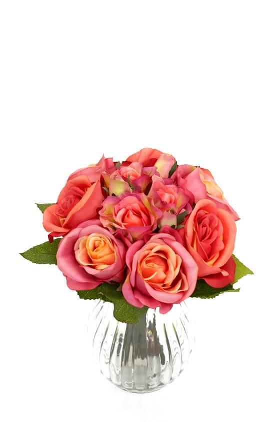 Bukett, rosor, konstgjord