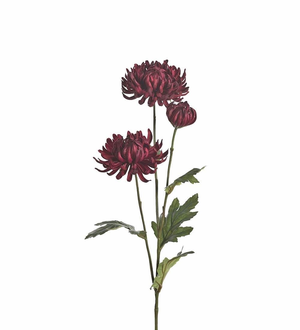 Chrysanthemum, vinröd, konstgjord blomma