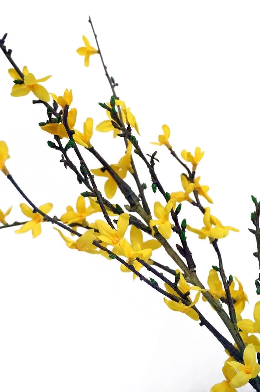 Forsythia, konstgjord kvist, gul