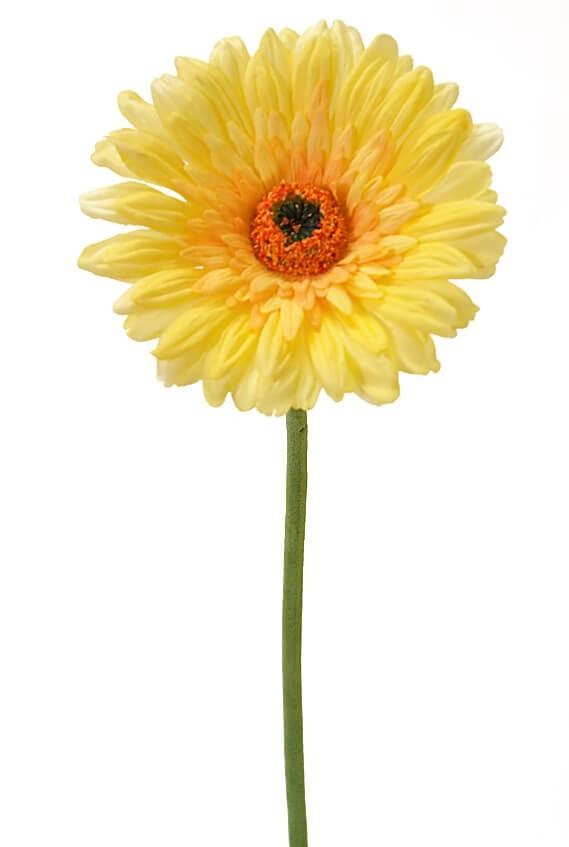 Gerbera, gul, konstgjord blomma