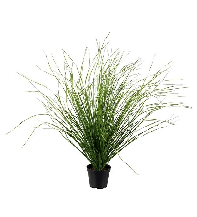 Gräsplanta, konstgjord med ljusgröna strån