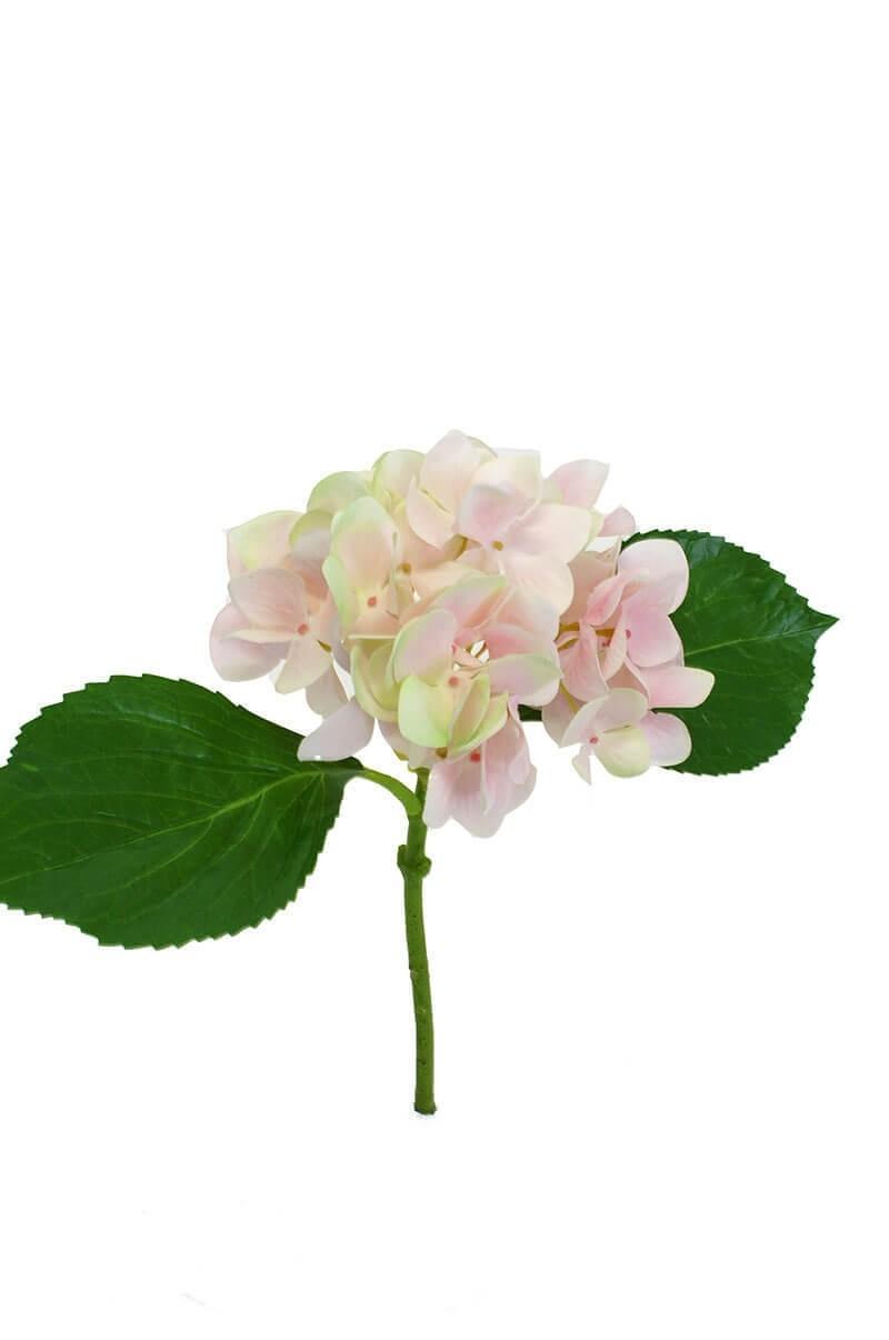 Hortensia, ljus rosa, konstgjord blomma