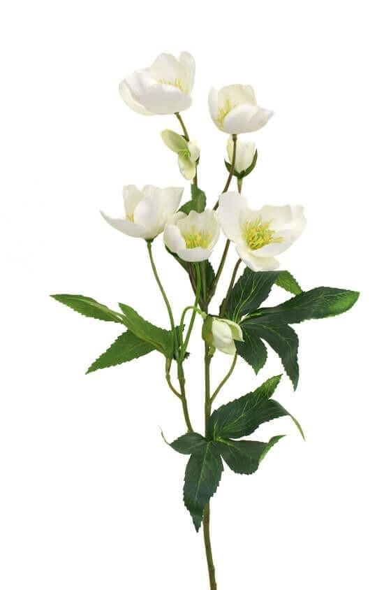 Julros, vit, konstgjorda blommor