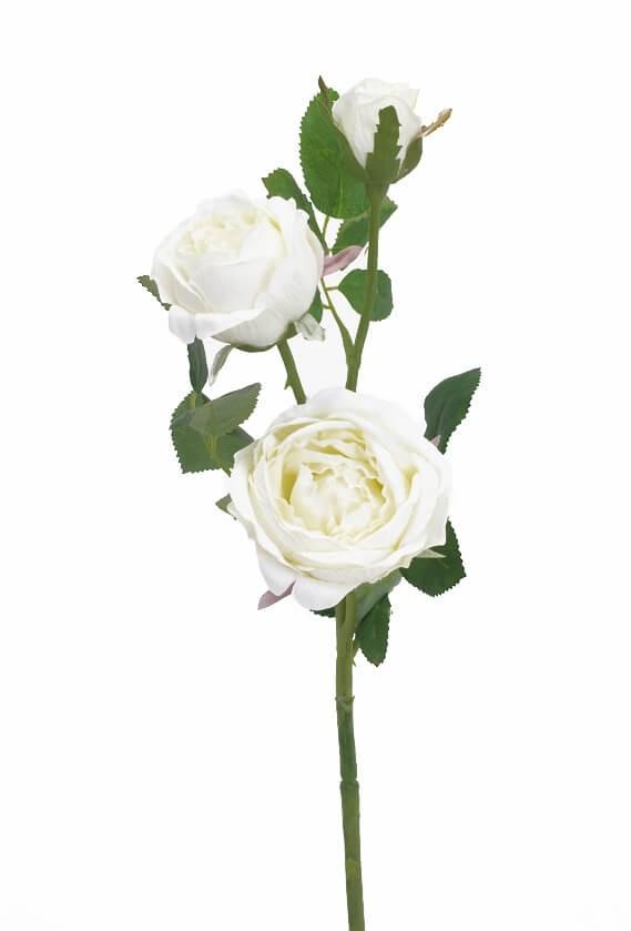 Kvistros, vit, konstgjord blomma