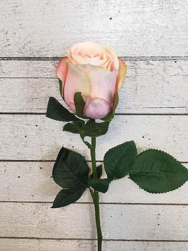 Ros, ljus aprikos, konstgjord blomma