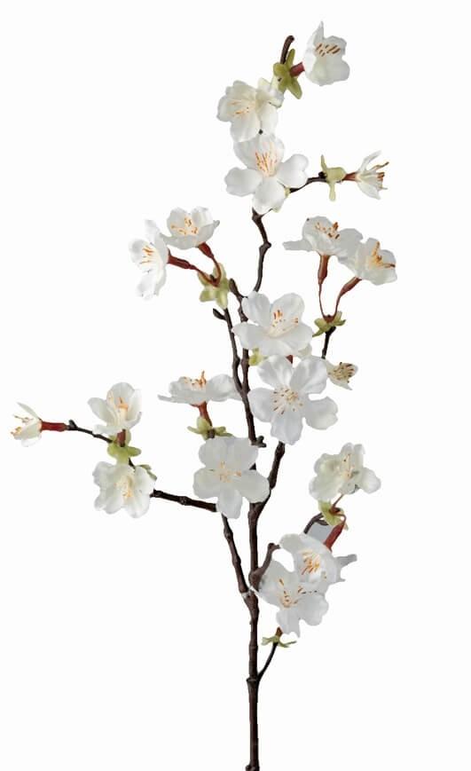 Körsbärsblom, vit, konstgjord blomma