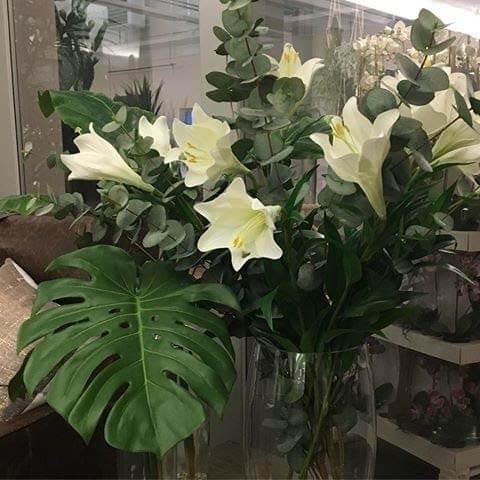 Lilja, trumpetlilja, konstgjord blomma