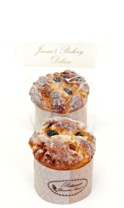 Muffins med russin, 1 st, konstgjort