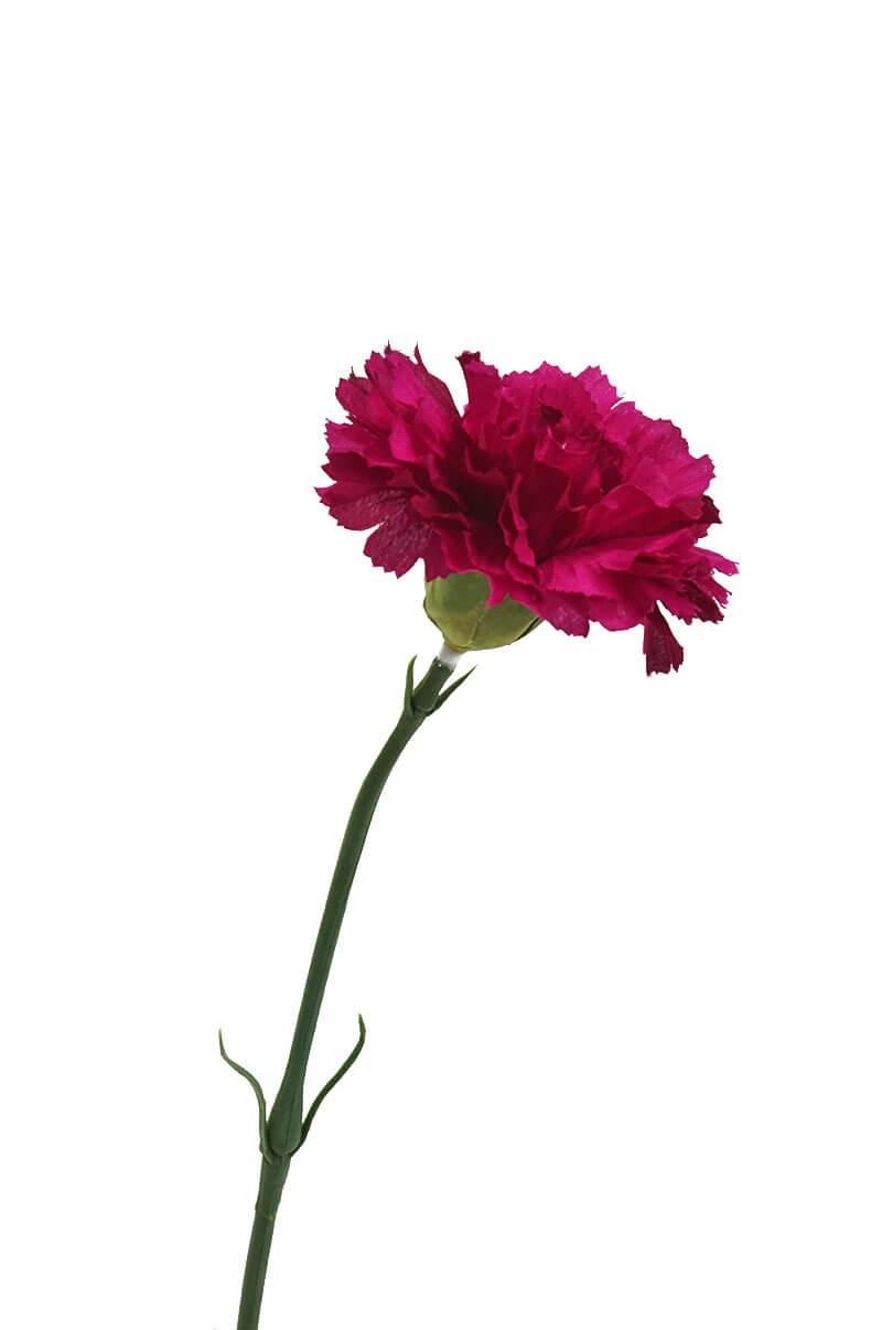 Nejlika, lila cerise, konstgjord blomma