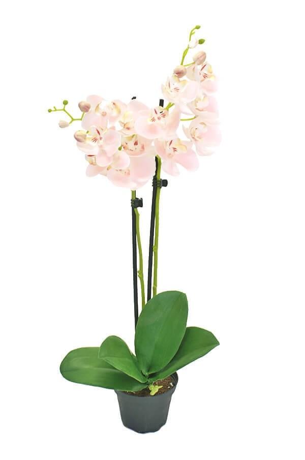 Orkidé i kruka, rosa, konstgjord