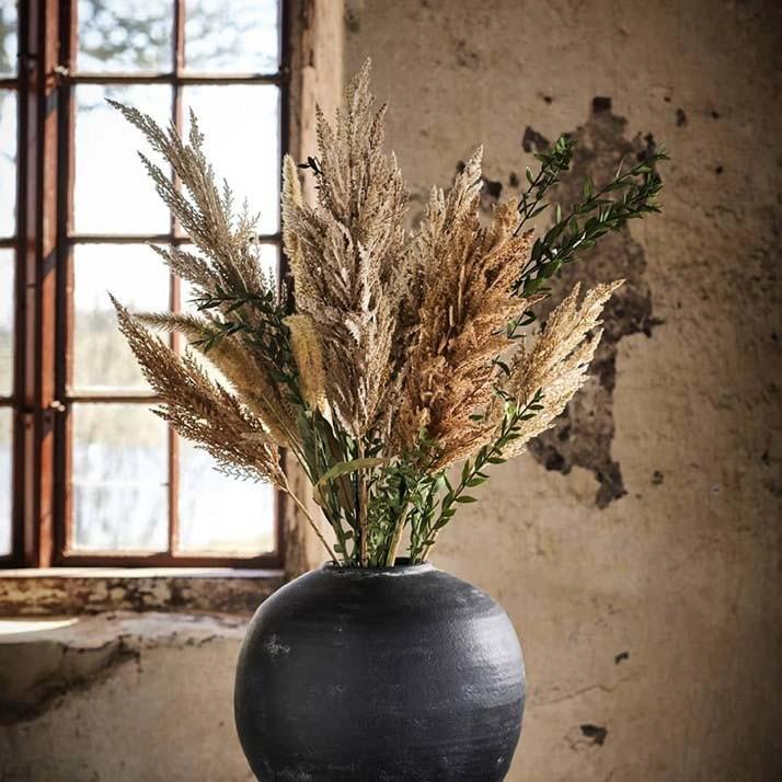 Pampasgräs, naturfärgat, torkat, konstgjort gräs
