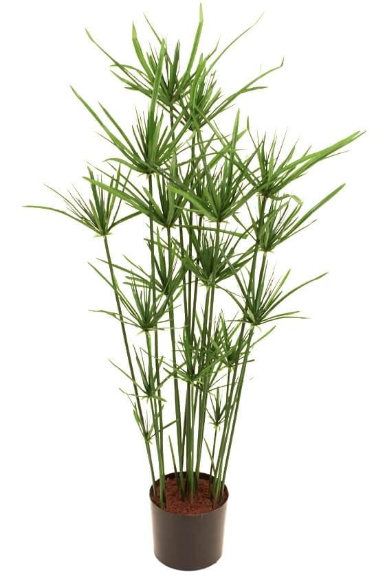 Papyrus, konstgjord grön krukväxt
