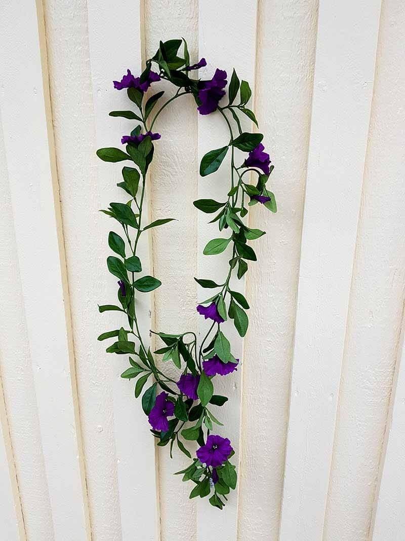 Petunia girlang, blå lila, konstgjord