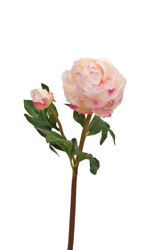 Pion, ljus rosa, konstgjord blomma