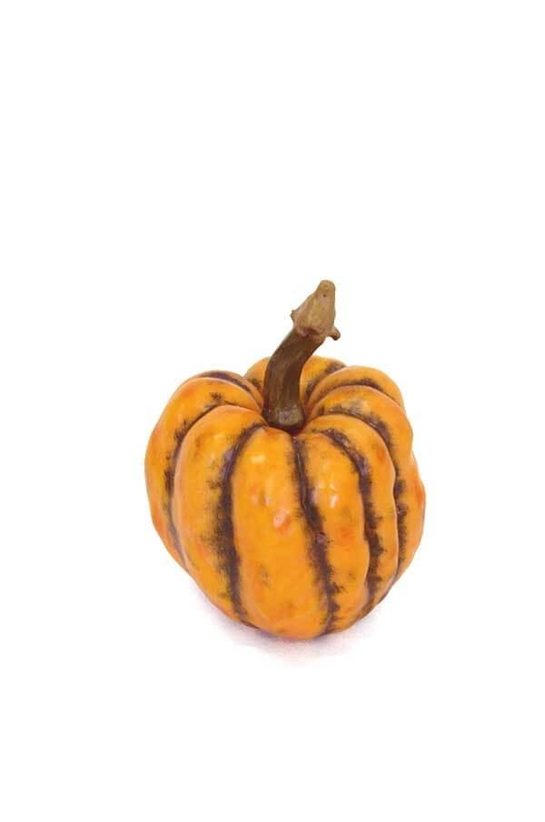 Pumpa, orange, konstgjord