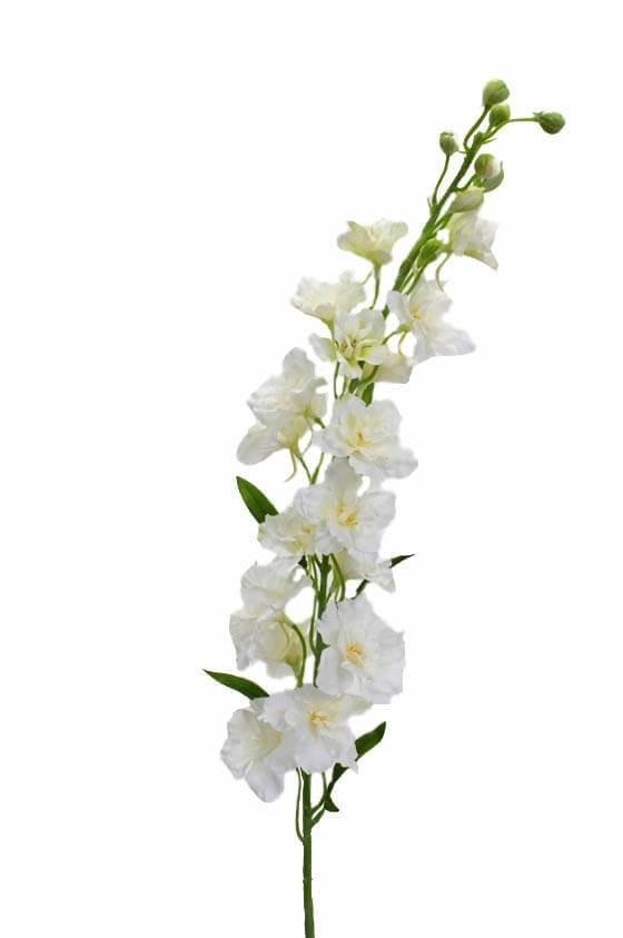 Riddarsporre, vit, konstgjord blomma
