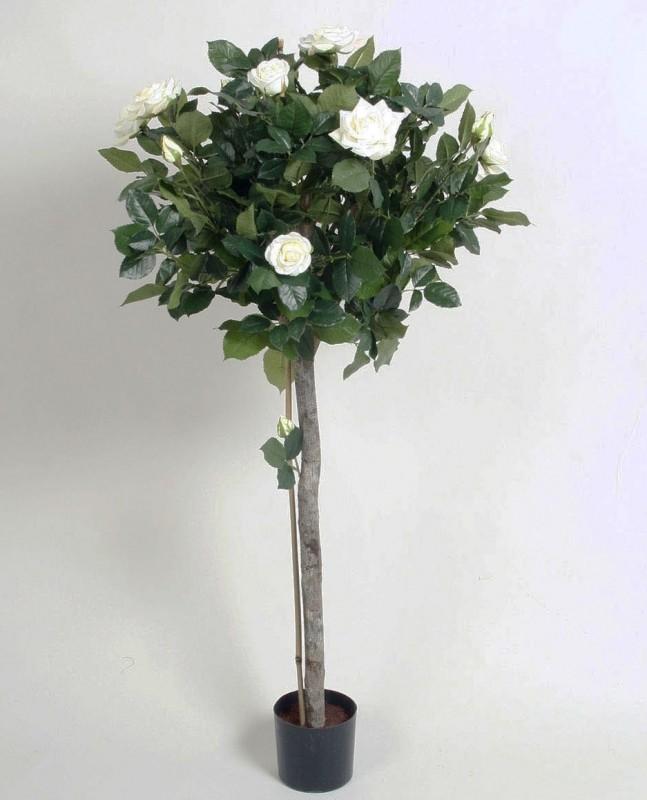 Ros träd, creme, vit, konstgjort 110cm