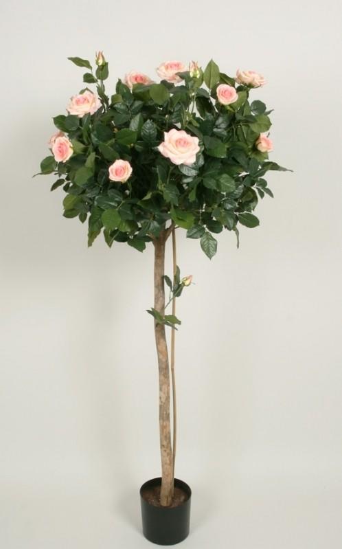 Ros träd, Lady Rose, rosa blommor konstgjort, 140cm