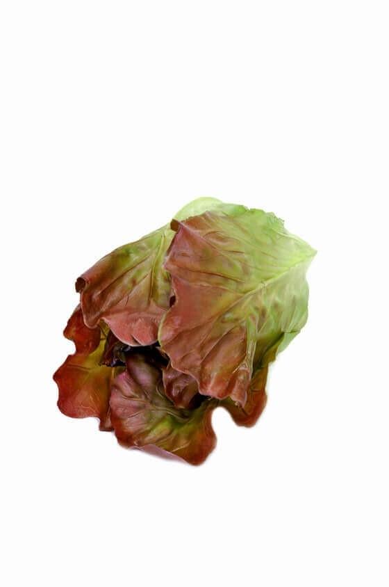 Sallad, grön/rost, konstgjord grönsak