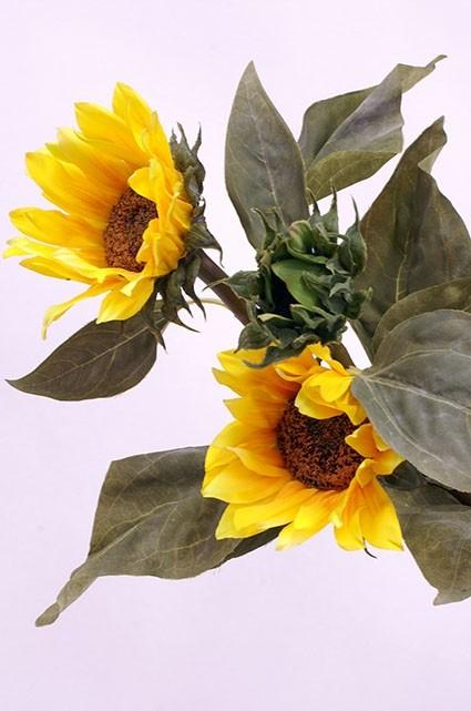 Solros, gul, konstgjord blomma