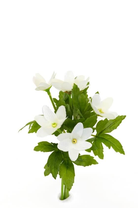Vitsippa, konstgjord blomma