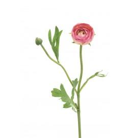 Ranunkel, gammalrosa, konstgjord blomma