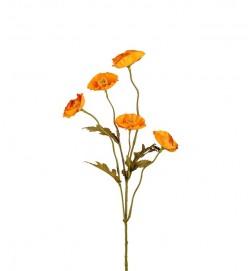 Vallmo, ockragul, konstgjord blomma