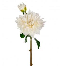 Dahlia, Real touch, vit, konstgjord blomma