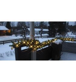 Granrisgirlang påbyggnadsbar, System,100 st LED-ljus