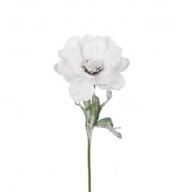 Anemon, med snö, vit, konstgjord blomma