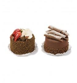 Bakelser, choklad & jordgubb, 2-pack, konstgjorda