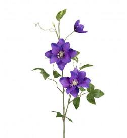 Clematis, blå, konstgjord blomma