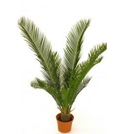Cykaspalm, konstgjord grön krukväxt