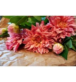 Dahlia, Real touch, rosa, konstgjord blomma