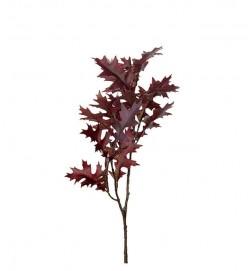 Eklöv, vinröd, konstgjord kvist