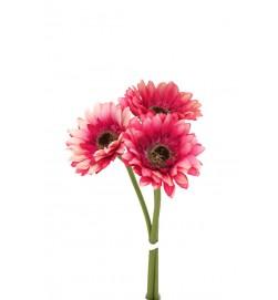 Gerbera, cerise 3-pack, konstgjord blomma