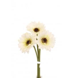 Gerbera, vit 3-pack, konstgjord blomma
